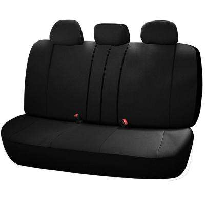 Journeyman Class Poly Flat Cloth 26 in. L x 55.9 in. W x 31.5 in. H Bench Seat Cover Set in Black