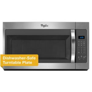 5 Whirlpool 1 7 Cu Ft Over The Range Microwave In Stainless Steel