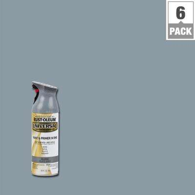 12 oz. All Surface Gloss Slate Gray Spray Paint and Primer in One (6-Pack)