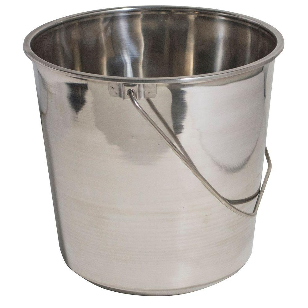 Large Stainless Steel Bucket Set (3-Pack)