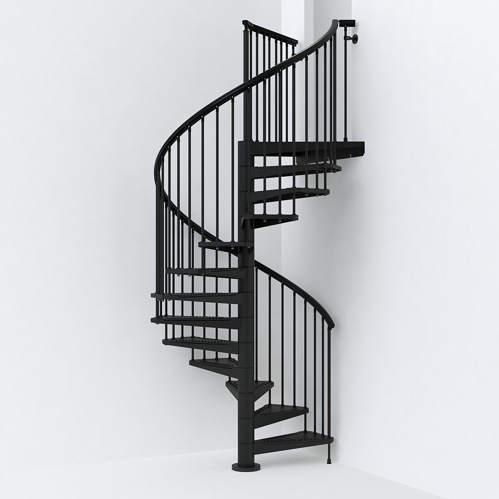 Black Spiral Staircase Kit K26292 The Home Depot