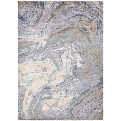 Sagano Muscle Shell Pearl-Multi 2 ft. x 4 ft. Area Rug