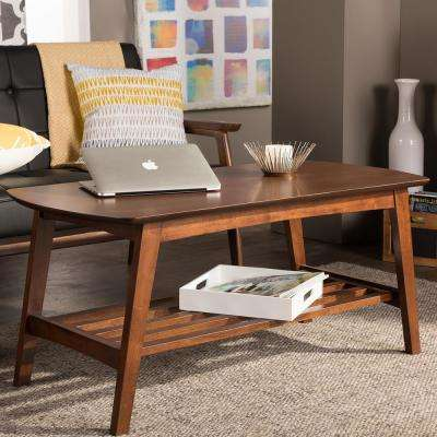 Sacramento Mid-Century Medium Brown Wood Finished Coffee Table