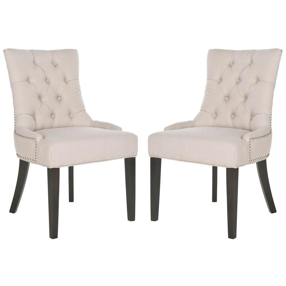 Genial Safavieh Harlow Clay/Espresso Bicast Leather Side Chair (Set Of  2) MCR4716D SET2   The Home Depot