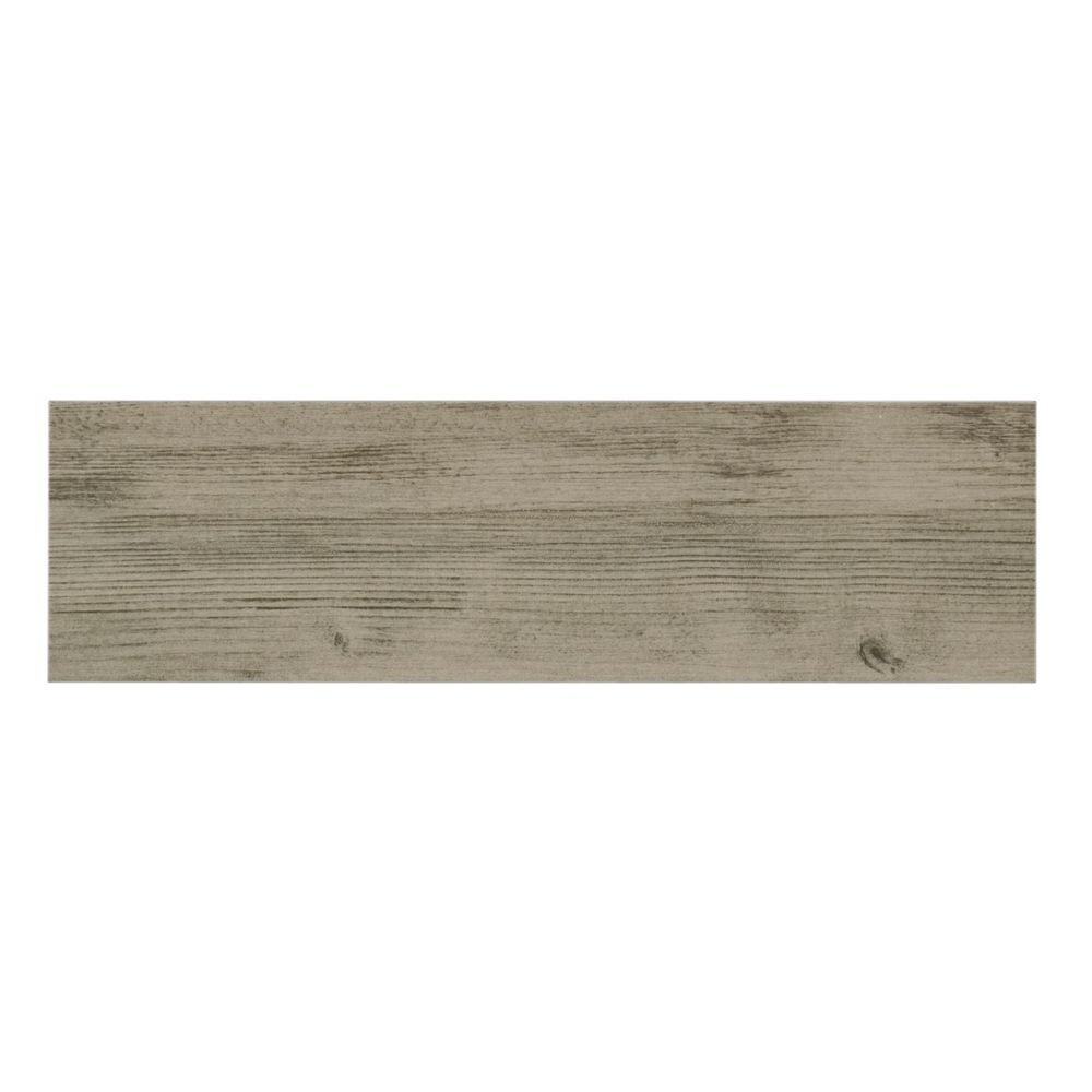 Listello Ara Grigio Porcelain Floor And Wall Tile 4 In