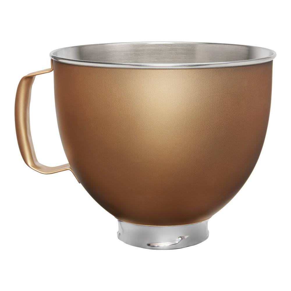 5 Qt. Tilt-Head Gold Metallic Finish Stainless Steel Bowl