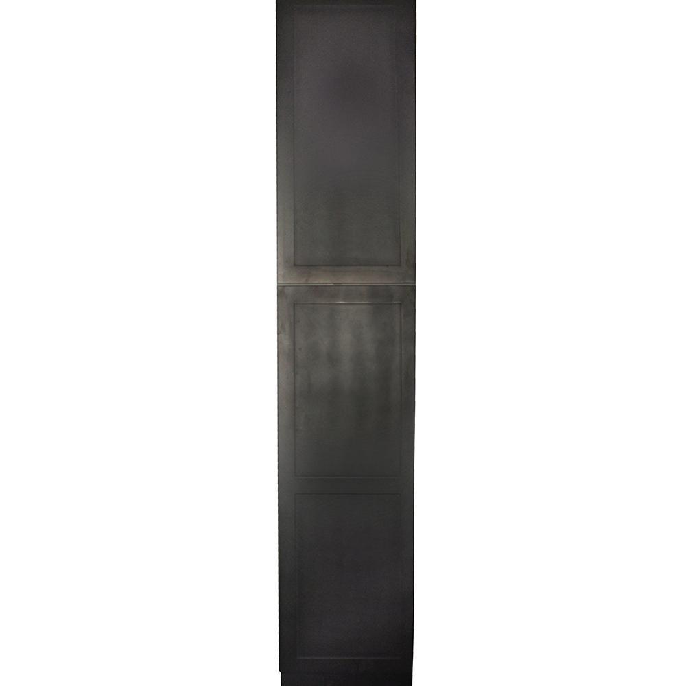 Kitchen Cabinet Doors Home Depot: Krosswood Doors Black Satin Shaker II