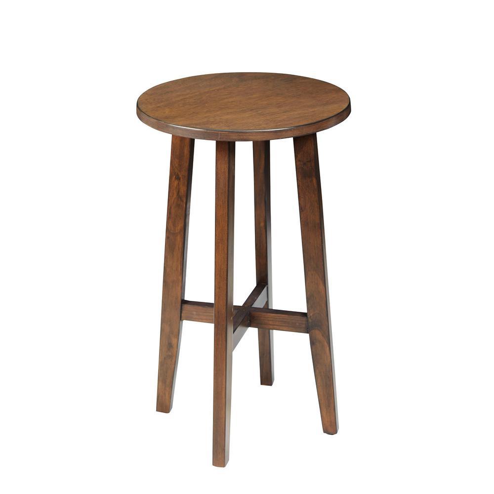 Silverwood Furniture Reimagined Bella Dark Brown Round Accent Table CPFT1268B
