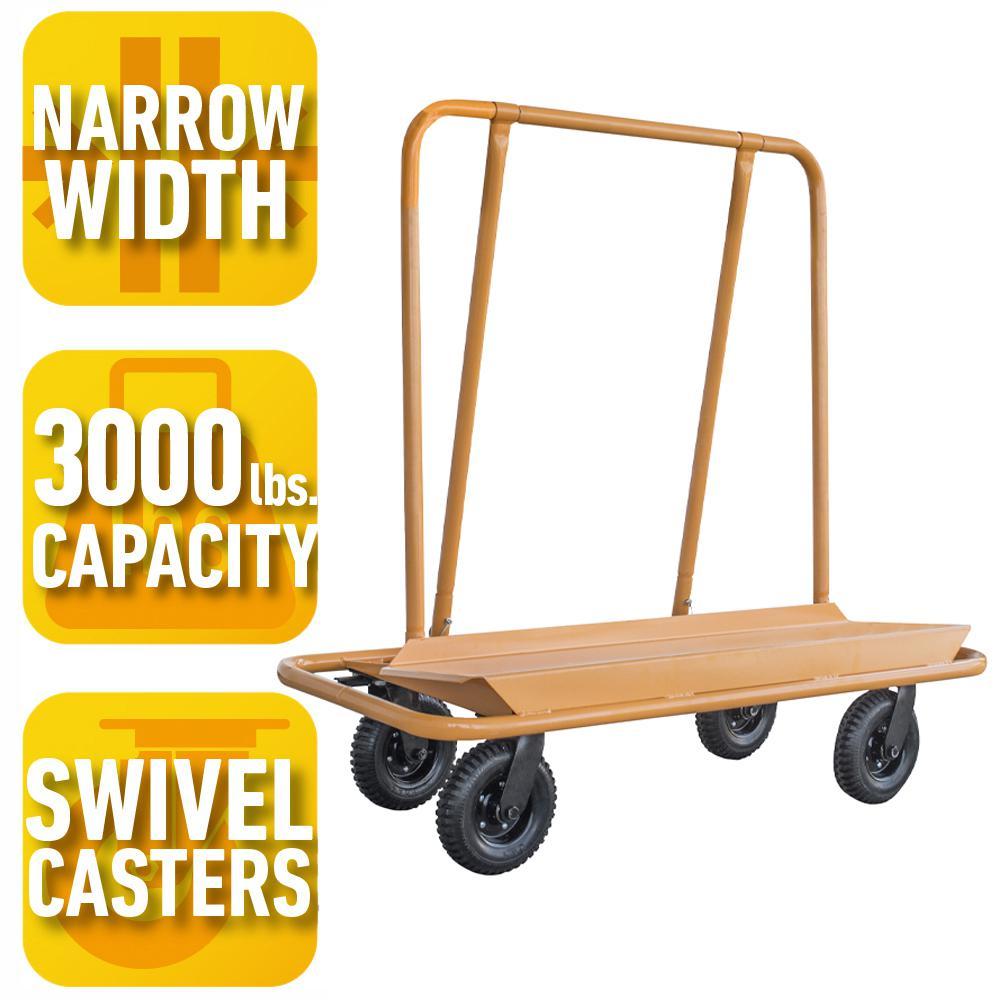 PRO-SERIES 3000 lb. Load Capacity Drywall Cart