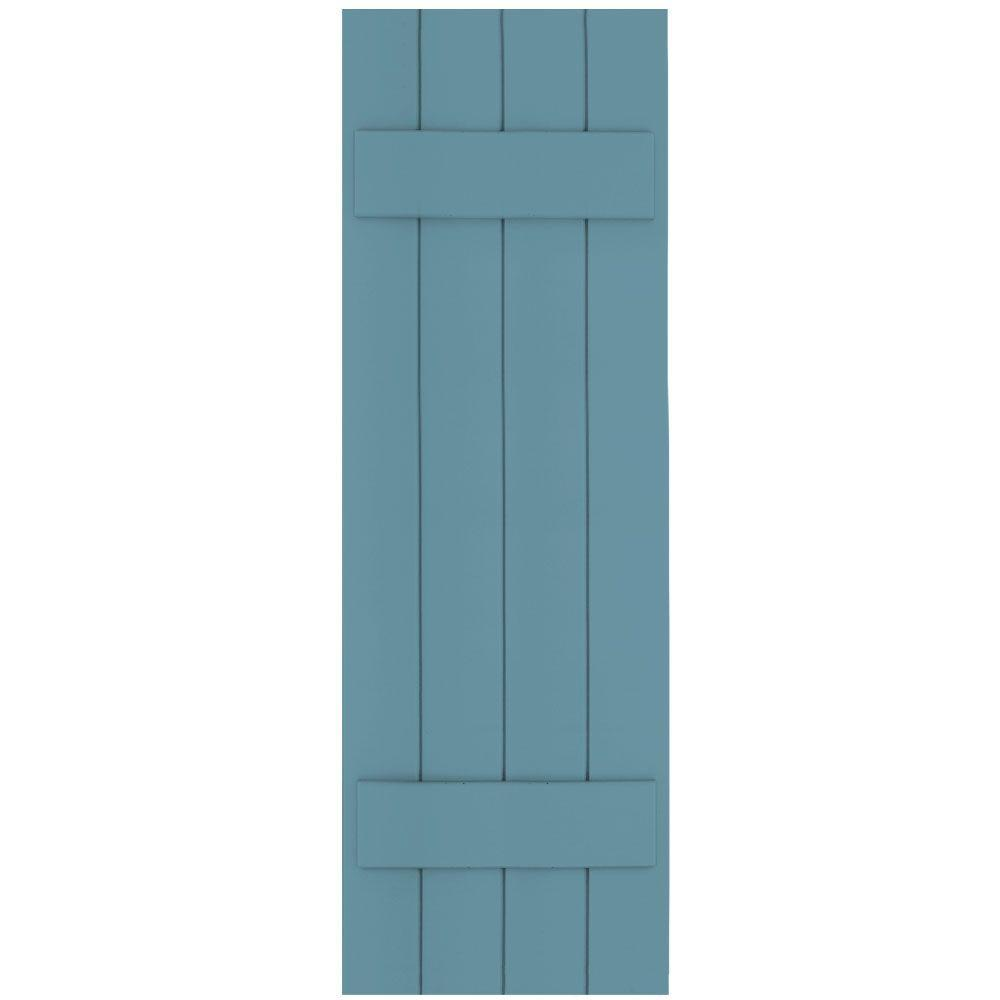 Winworks Wood Composite 15 in. x 47 in. Board & Batten Shutters Pair #645 Harbor