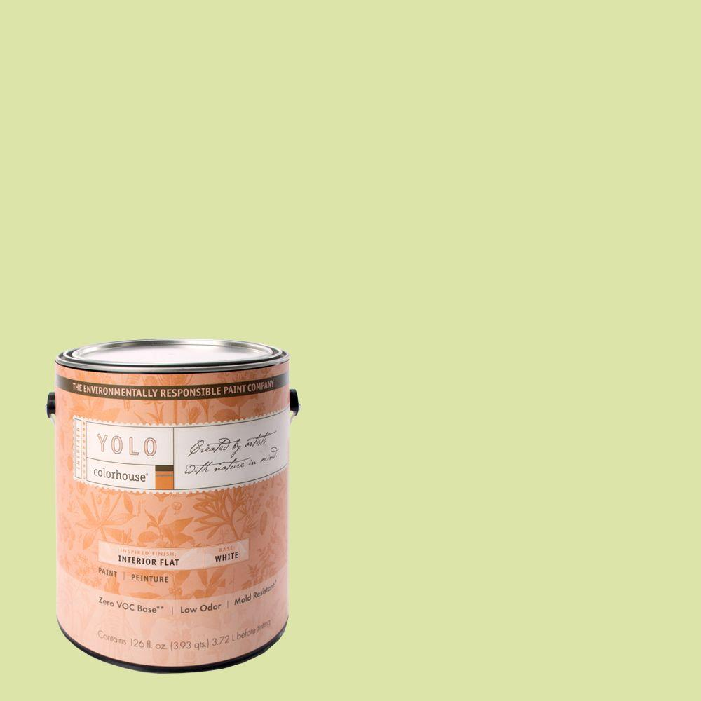YOLO Colorhouse 1-gal. Leaf .07 Flat Interior Paint-DISCONTINUED