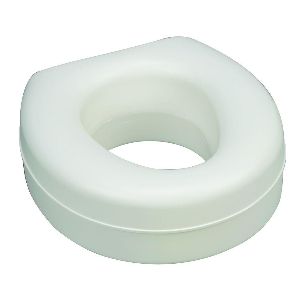 HealthSmart Deluxe Plastic Toilet Seat in White