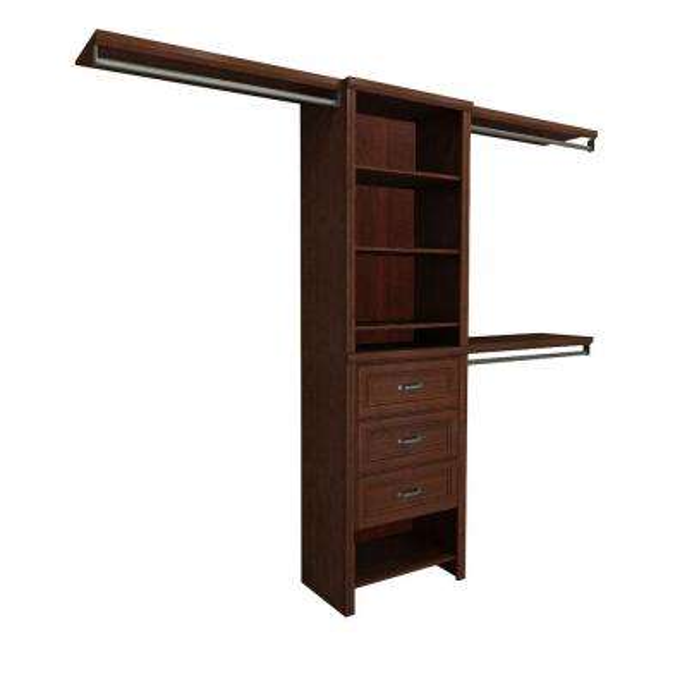 Impressions 5 ft. - 10 ft. Dark Cherry Basic Plus Closet System