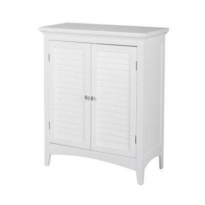 Simon 26 in. W x 13 in. D x 32 in. H Bathroom Linen Storage Floor Cabinet with 2-Shutter Doors in White
