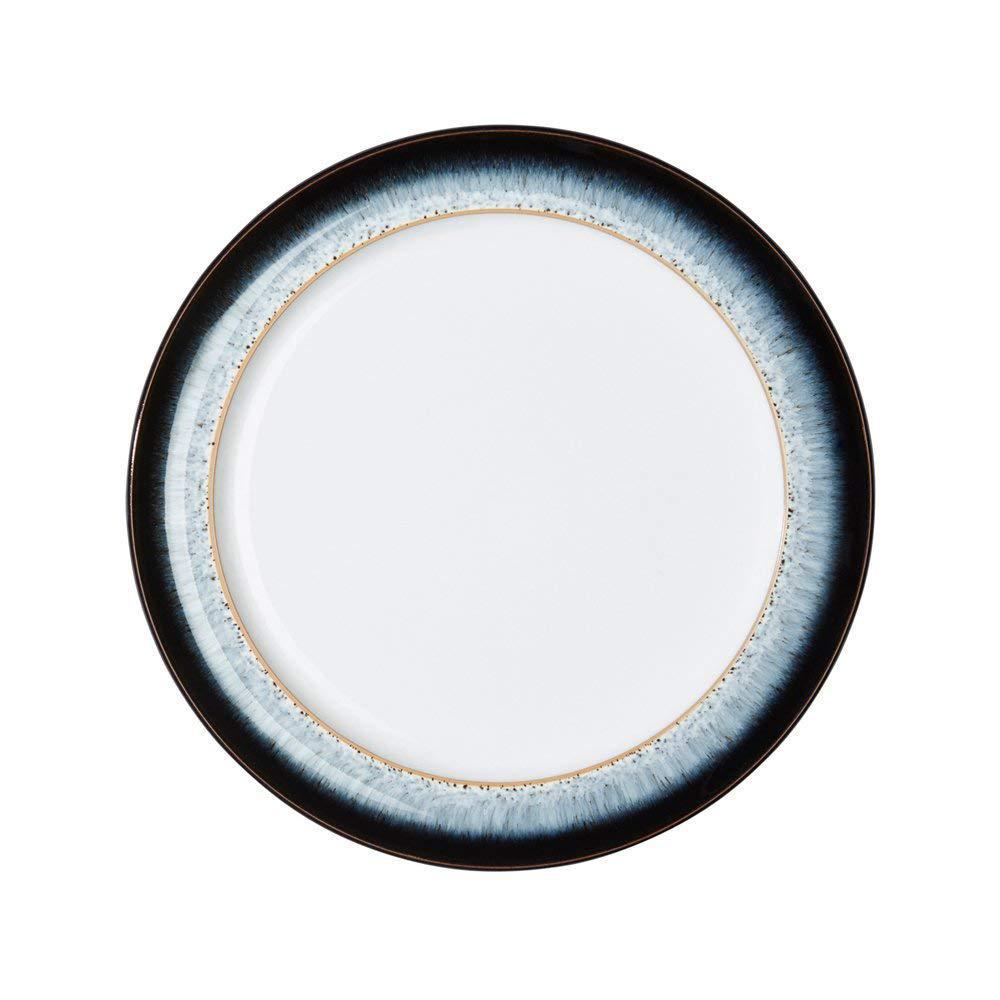 Denby Halo Wide Blue Rimmed Salad Plate HLO-004W