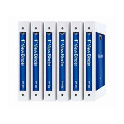 DIY View Binders, 1 in. White, 6 Pack