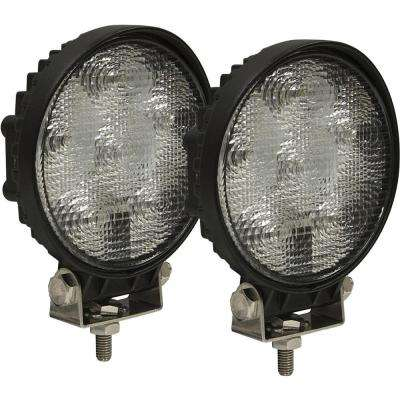 6-Clear LED Round Aluminum Flood Light (2-Pack)