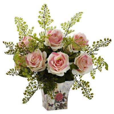 Rose and Maiden Hair with Floral Planter
