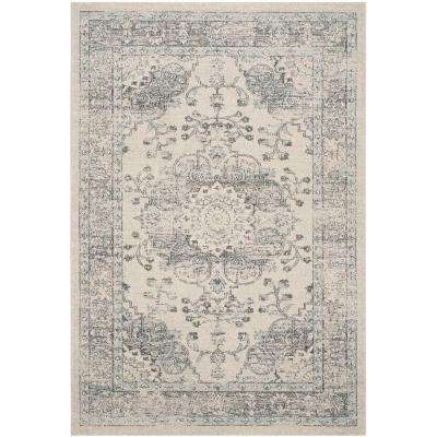 Carmel Beige/Blue 5 ft. x 8 ft. Area Rug