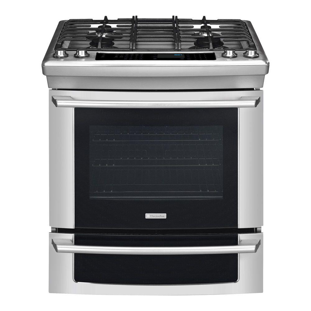 Electrolux IQ-Touch 4.2 cu. ft. Slide-In Natural Gas Range with Self-Cleaning Convection Oven in Stainless Steel-DISCONTINUED