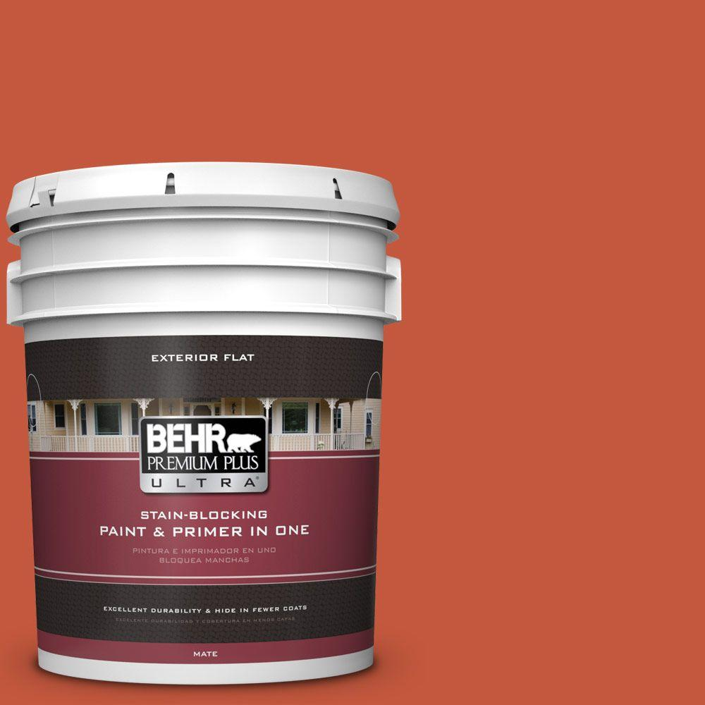 5-gal. #BIC-31 Fire Coral Flat Exterior Paint