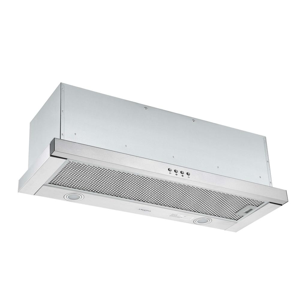 Ancona Forte 436 36 In 425 Cfm Ducted Built In Range Hood With Led In Stainless Steel An 1601 The Home Depot