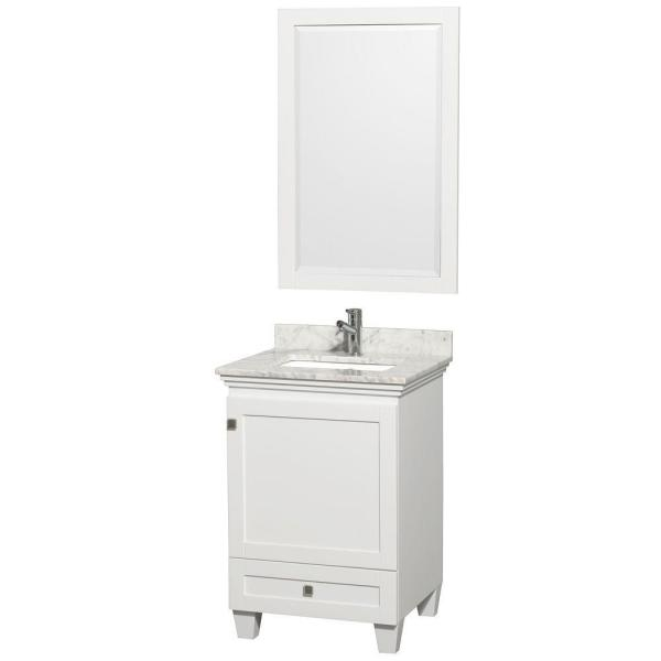 Wyndham collection acclaim 24 in vanity in white with - Best place to buy bathroom vanities online ...