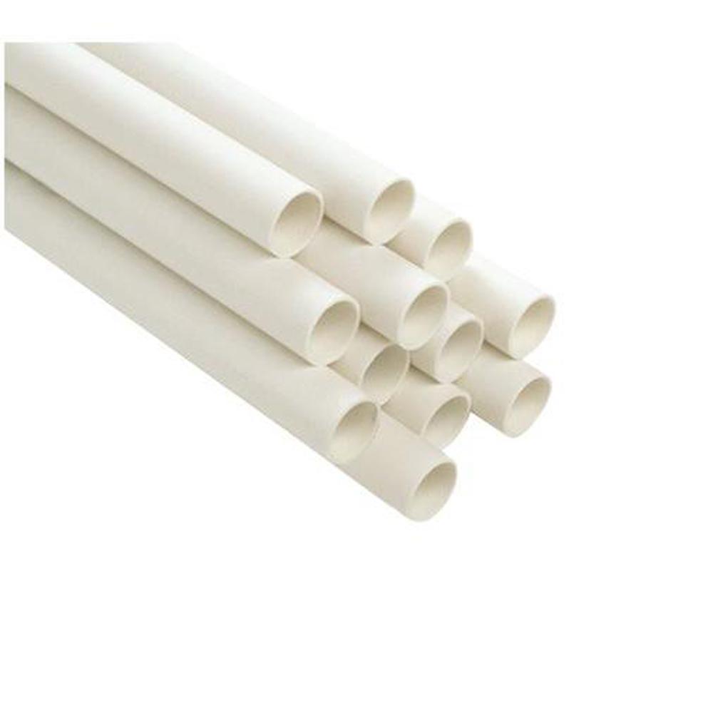 1/2 in. x 10 ft. Plain End PVC Schedule 40 Pressure Pipe
