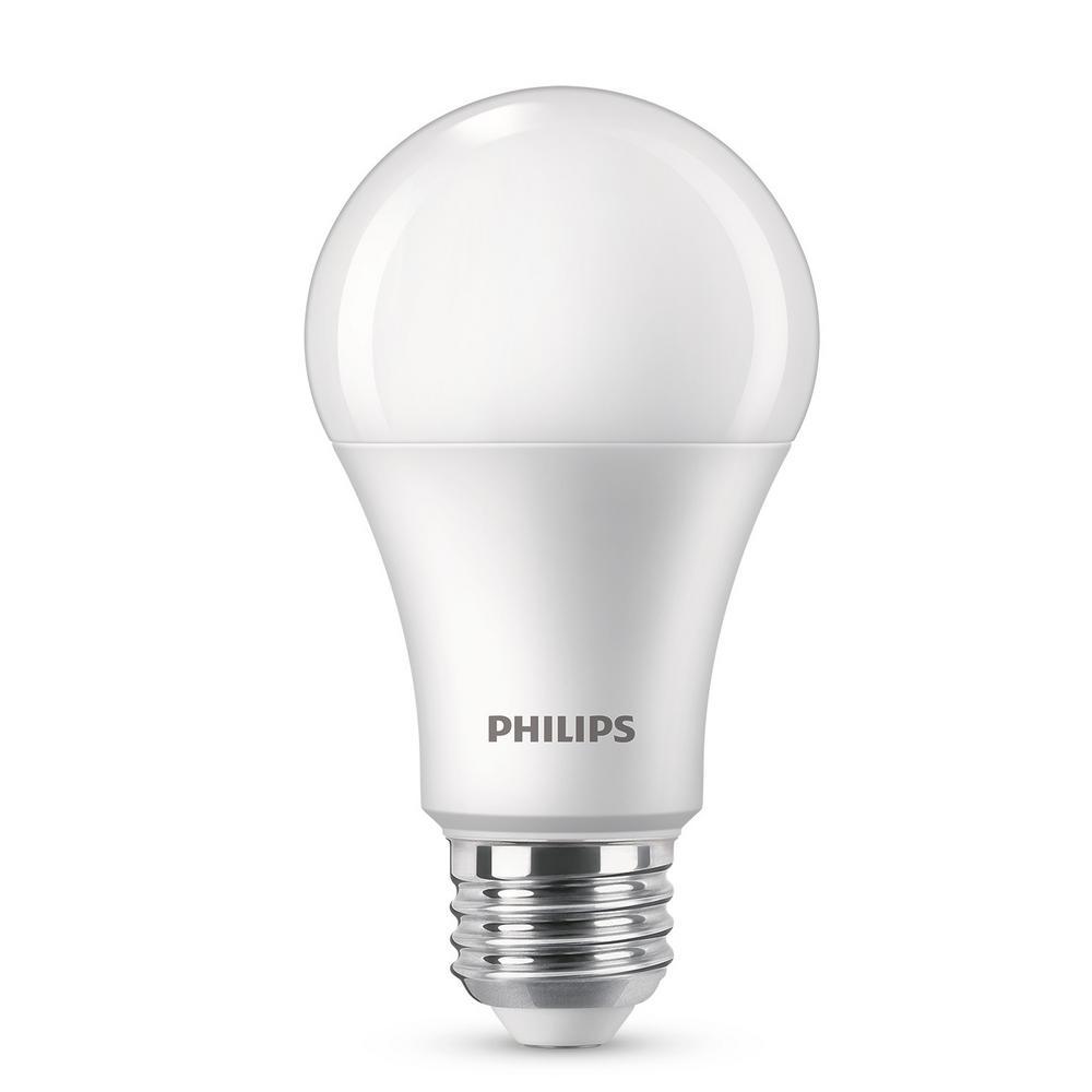 Philips 100-Watt Equivalent A19 Dimmable Energy Saving LED Light Bulb Daylight (5000K) (2-Pack)