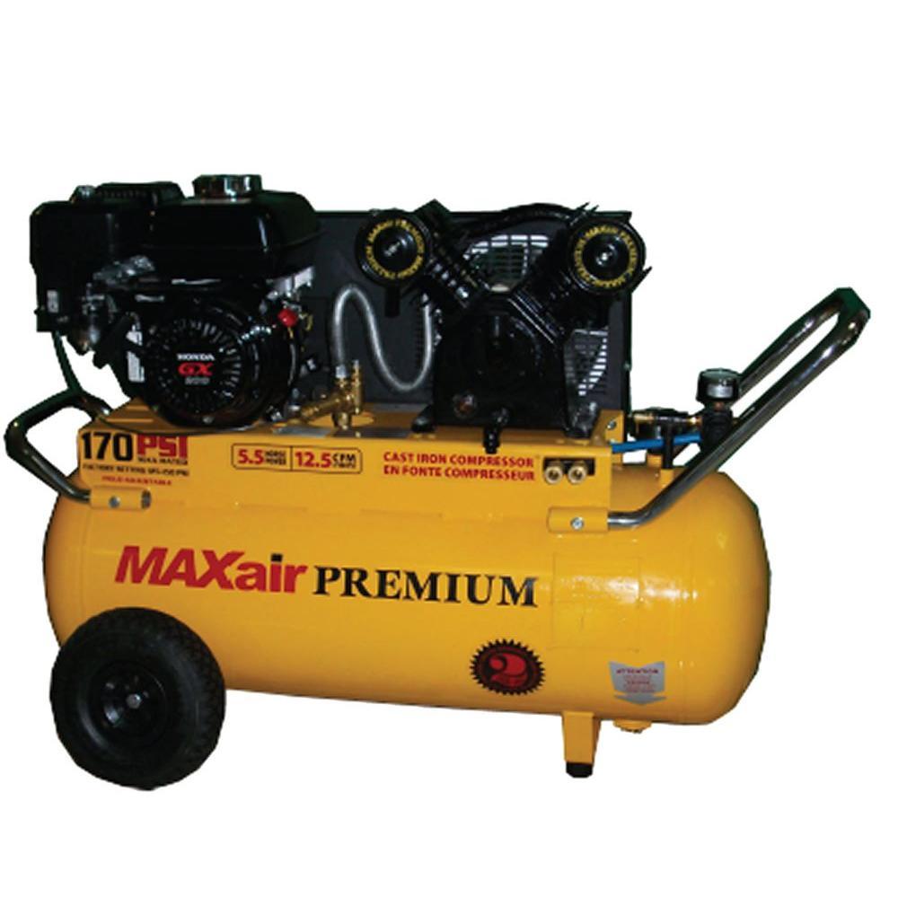 Premium Industrial 25 Gal. 5.5 HP Honda Engine Portable Electric Start Air Compressor