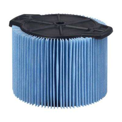3-Layer Fine Dust Pleated Paper Filter for 3.0 gal. to 4.5 gal. RIDGID Wet Dry Vacs
