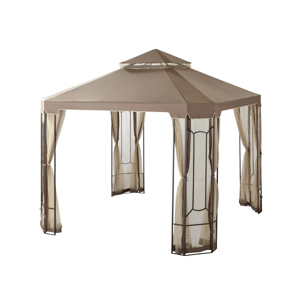 Hampton Bay 10 ft. x 10 ft. Cottleville Gazebo-GFS00744A - The Home ...
