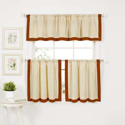 Wilton 60 in. W x 15 in. L Cotton Single Window Curtain Valance in Spice