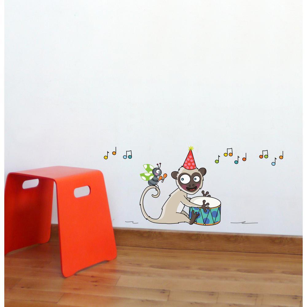 Adzif (34 in x 15 in) Multi-Color ''Samba'' Kids Wall Decal