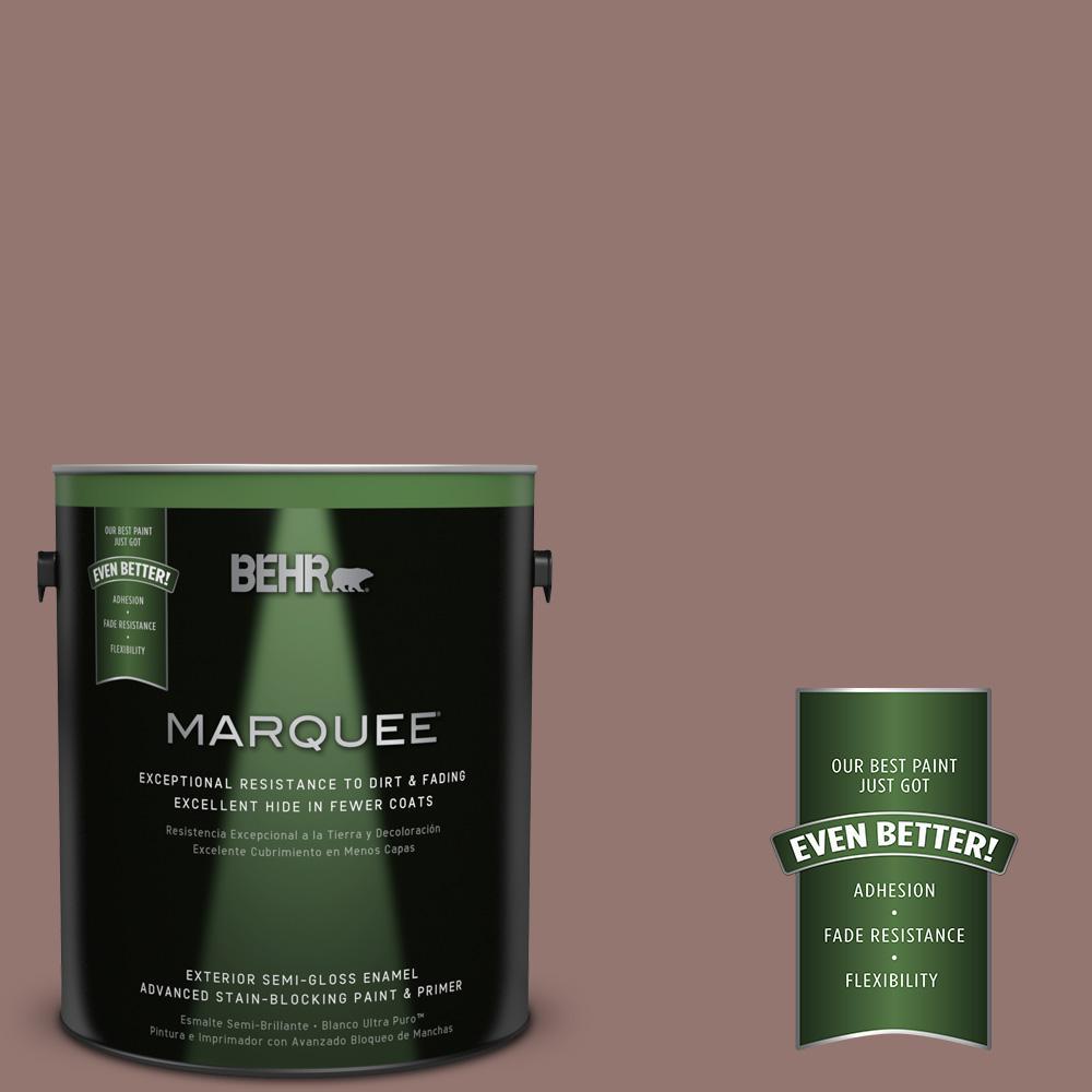 BEHR MARQUEE 1-gal. #710B-5 Milk Chocolate Semi-Gloss Enamel Exterior Paint