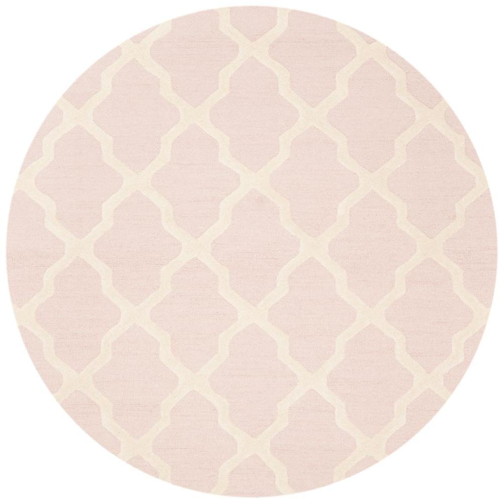 Safavieh Cambridge Light Pink/Ivory 6 Ft. X 6 Ft. Round Area Rug CAM121M 6R    The Home Depot