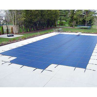 18 ft. x 36 ft. Deck Lock Mesh Plus 8 ft. Rectangular End Steps In-Ground Pool Safety Cover