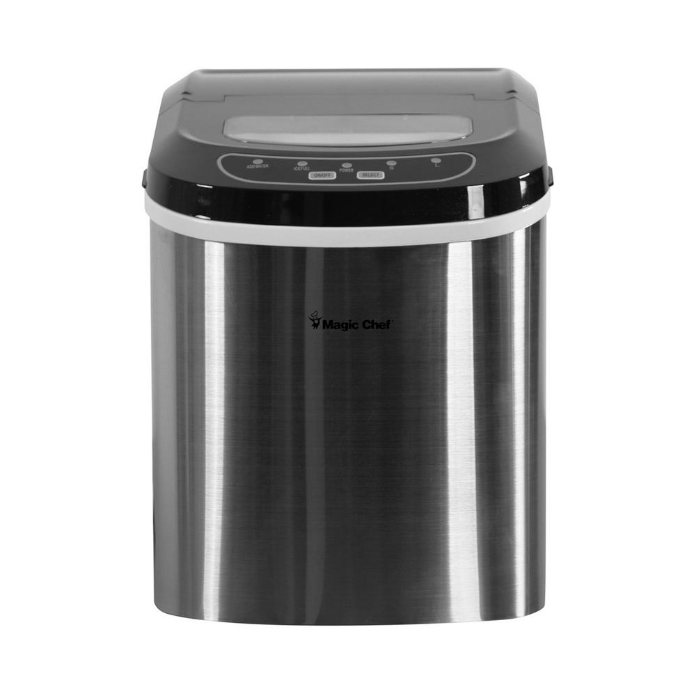 Portable Countertop Ice Maker In Stainless Steel