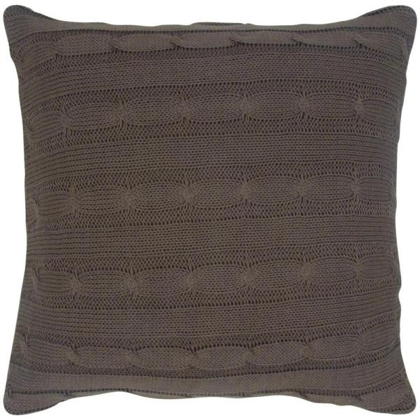 Cable Knit Toss Pillow in Mocha T05067