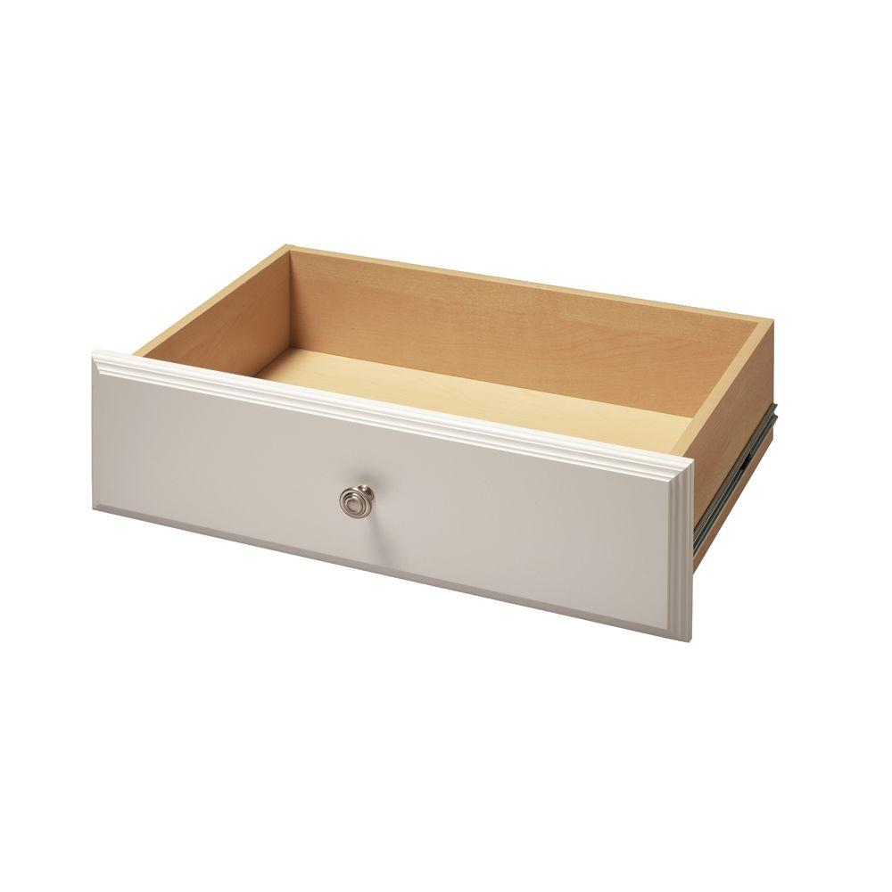 Martha Stewart Living 24 in. x 8 in. Classic White Deluxe Wood Drawer Kit