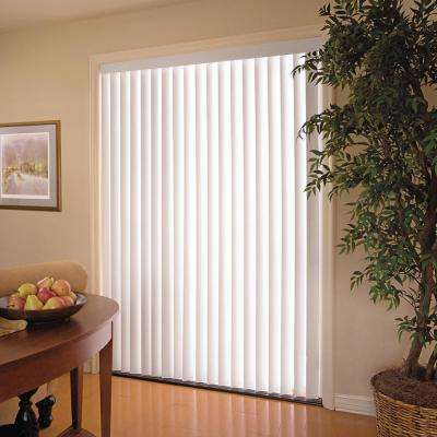 White 3.5 in. PVC Vertical Blind - 78 in. W x 84 in. L
