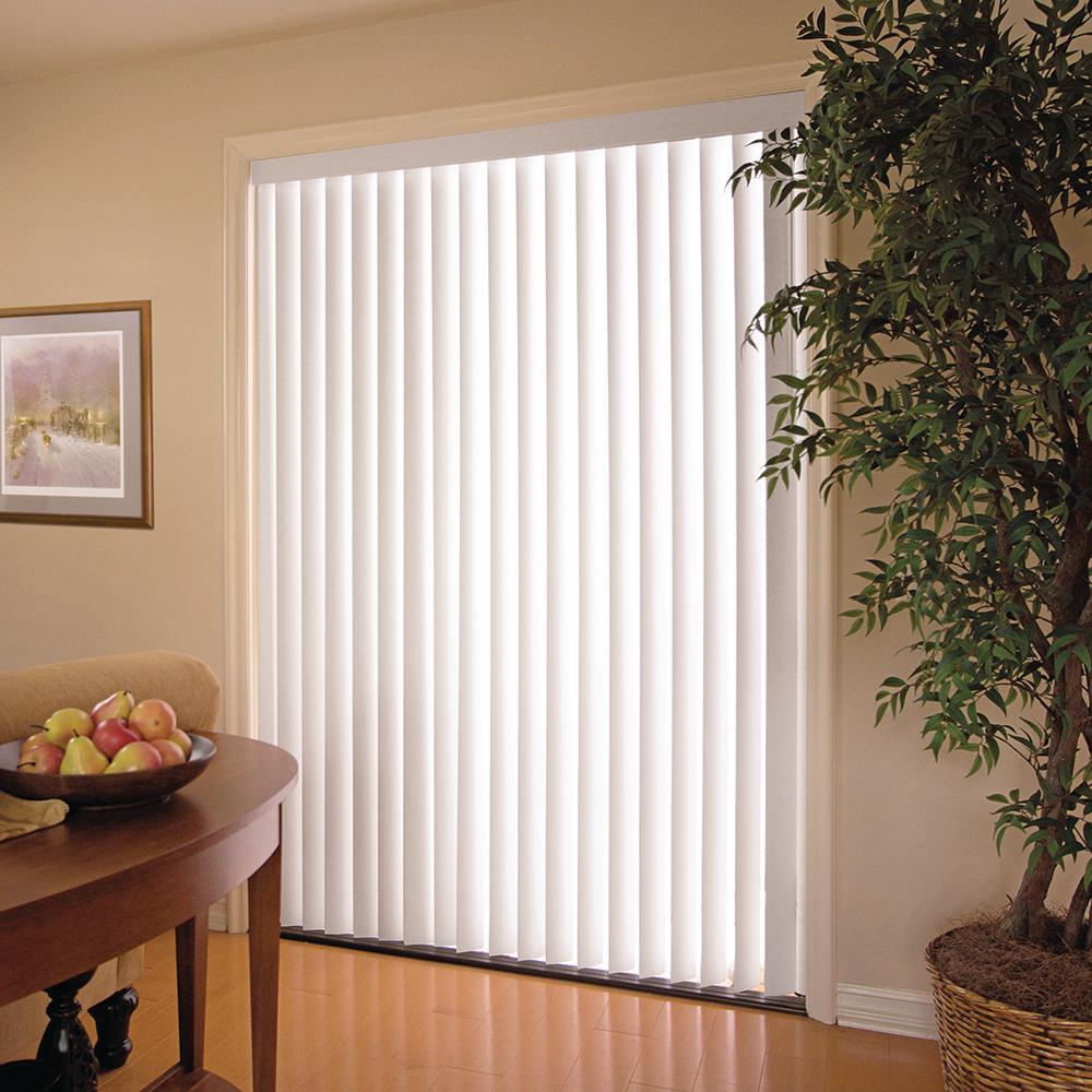 White 3.5 in. PVC Vertical Blind - 78 in. W x 84 in. L