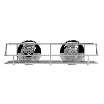 9.8 in. x 5.4 in. Small Multi-Purpose Shower Shelf in Chrome