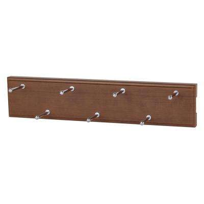 7 Hook Cognac Cherry Sliding Belt Rack