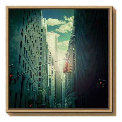 """""""downtown"""" by Ambra Framed Canvas Wall Art"""