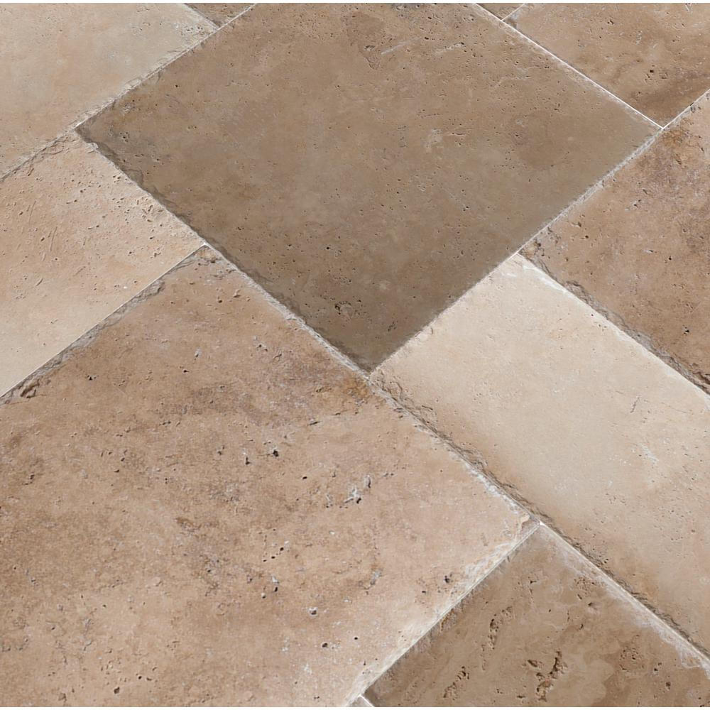 Honed Unfilled Chipped Travertine Floor