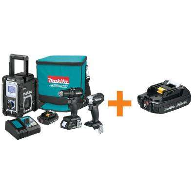 18-Volt LXT Lithium-Ion Sub-Compact Brushless Cordless 3-Piece Combo Kit with Bonus 2.0Ah Battery