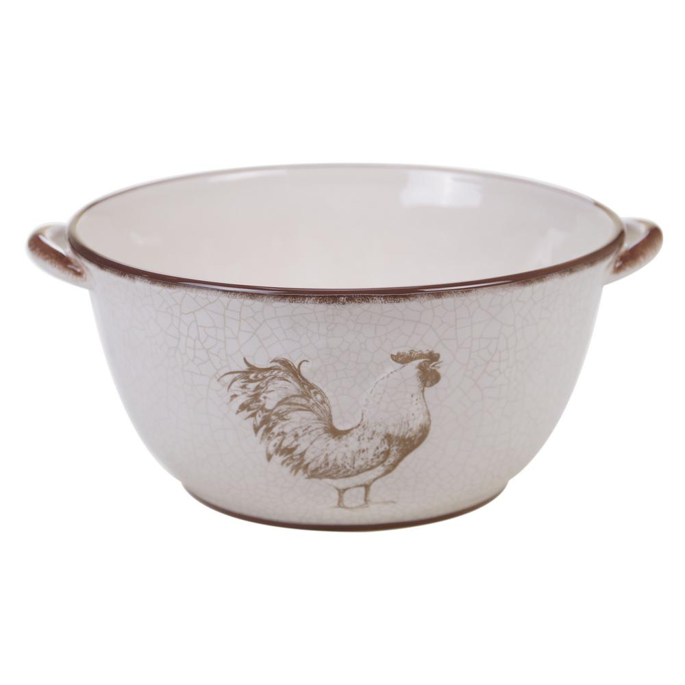 Toile Rooster 128 oz. Deep Bowl