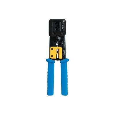 RJ45 and RJ45 Feed Thru Connector Crimp Tool