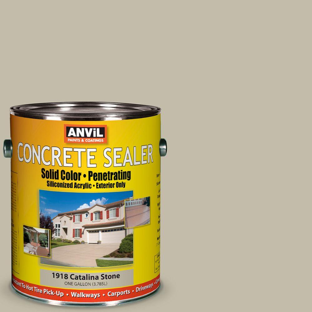 ANViL 1-gal. Catalina Stone Siliconized Acrylic Solid Color Exterior Concrete Sealer-DISCONTINUED
